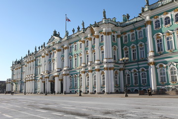 St. Petersburg  Russia  majestic Winter Palace  of St. Petersburg