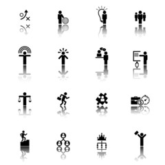 Human Resource, Business and Strategy Icons