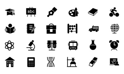 Education Vector Solid Icons 1