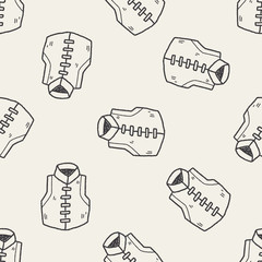 Chinese vest doodle seamless pattern background
