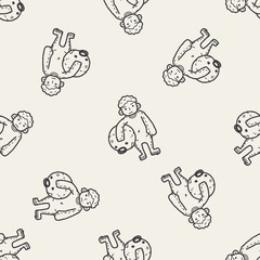 actor doodle seamless pattern background