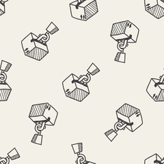 Weight doodle seamless pattern background
