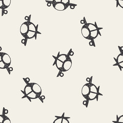 airplane doodle seamless pattern background