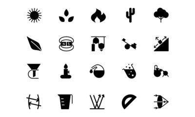 Science Vector Solid Icons 7
