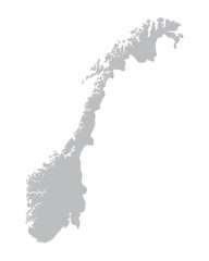 grey map of Norway