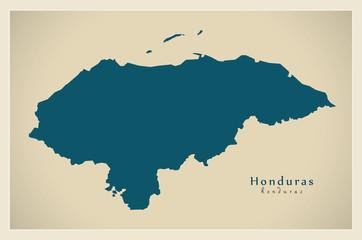 Modern Map - Honduras HN