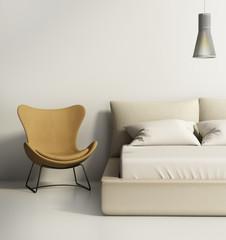 Contemporary elegant luxury greybedroom