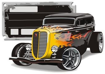 Retro Hotrod Wall mural