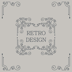 Vector vintage decorative frames.