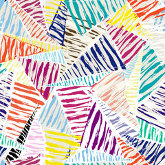 seamless pattern background, with strokes, splashes, triangles a