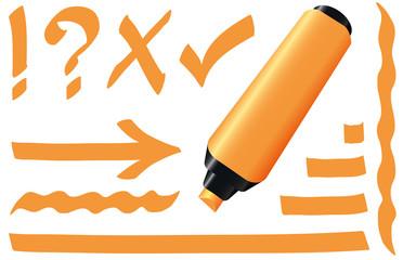 Highlighter Orange Marker