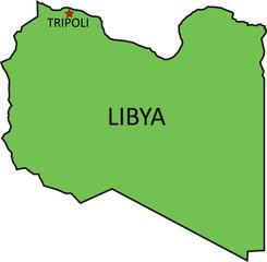 libya map / libya map country in africa