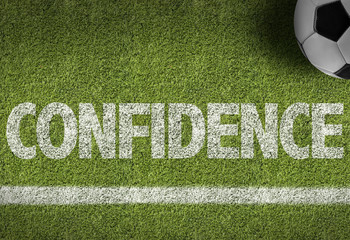 Soccer field with the text: Confidence