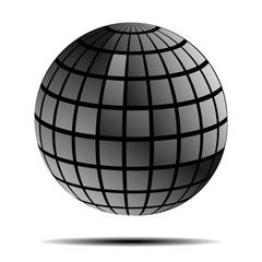 Glowing ball with shadow vector illustration