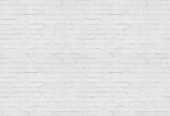 Zelfklevend Fotobehang Baksteen muur Seamless white brick wall pattern background