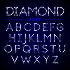 Alphabet letters from diamonds