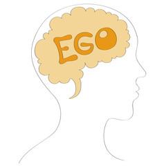 Human ego vector illustration