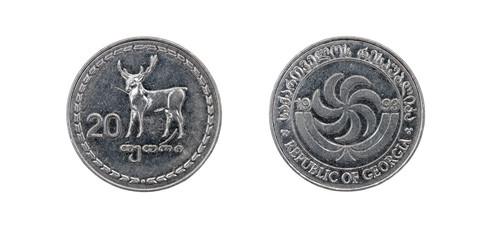 Coin 20 tetri GEL. Republic of Georgia