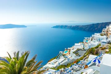 Obraz Santorini Island Greece - fototapety do salonu