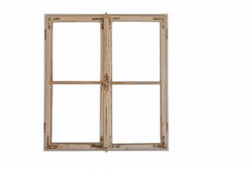 Alter Fensterrahmen freigestellt