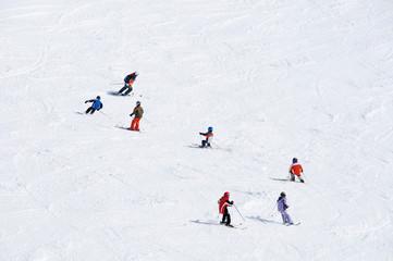 Skikurs von oben