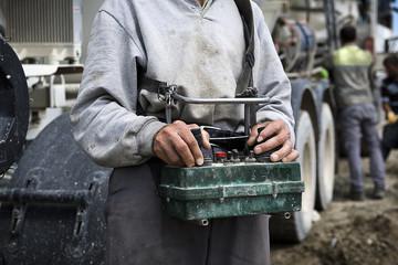 Radio Remote Control for Concrete Pump