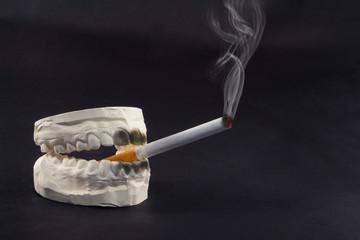 teeth and cigarettes