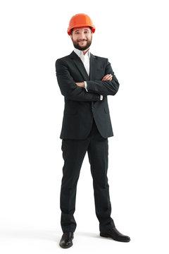smiley man in formal wear