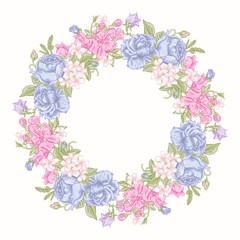 Floral round wreath.