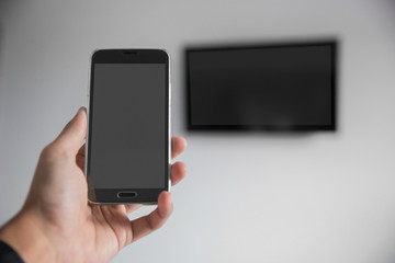smartphone connect to television