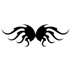 Tribal wing tatto template set