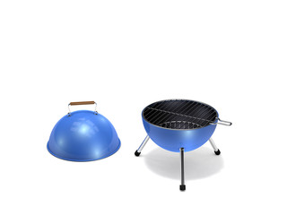 portable barbecue grill on white background