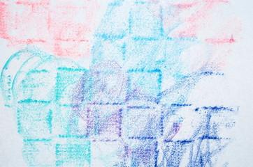 パステル紫陽花.パステル絵画を制作し撮影致しました.