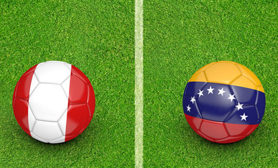 2015 Copa America football tournament, teams Peru vs Venezuela