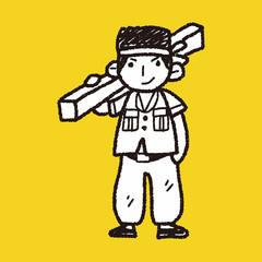 worker doodle