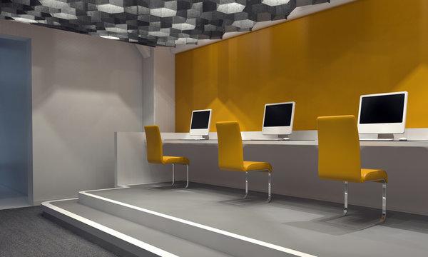 Contemporary internet cafe