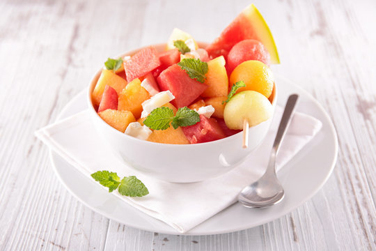 watermelon and melon salad
