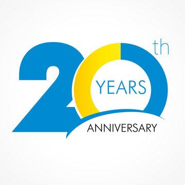 20 years anniversary logo
