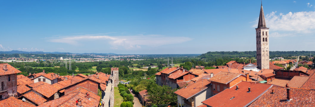 Ricetto di Candelo, panoramic view. Color image