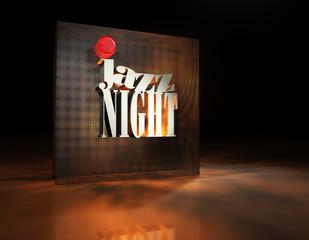 Jazznight Typografie Lochblech Spot