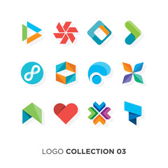 Logo collection 03. Vector graphic design elements for brand identity.