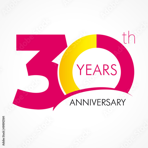 30 Years Anniversary Logo Stock Image And Royalty Free Vector Files