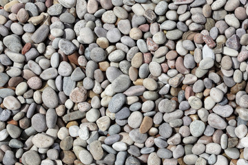 Beach or river stone pebble background