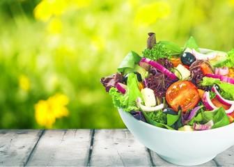 Salad, bowl, grilled.