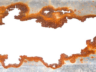 Rusty galvanized iron texture isolated Wall mural