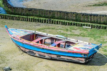 fishing boat on a mooring