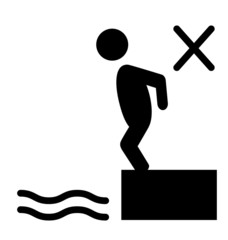 Swim water inflatable circle information flat people pictogram i