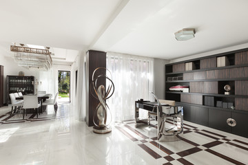 beautiful hall of a luxury apartment