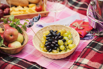 Fruits on a picnic