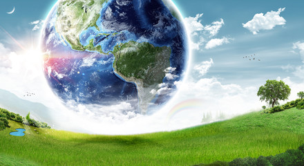 Ecology Earth concept - (Elements of this image furnished by NASA)